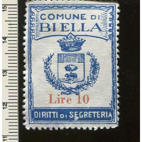Italy Municipal Revenue  Biella, no gum    i016