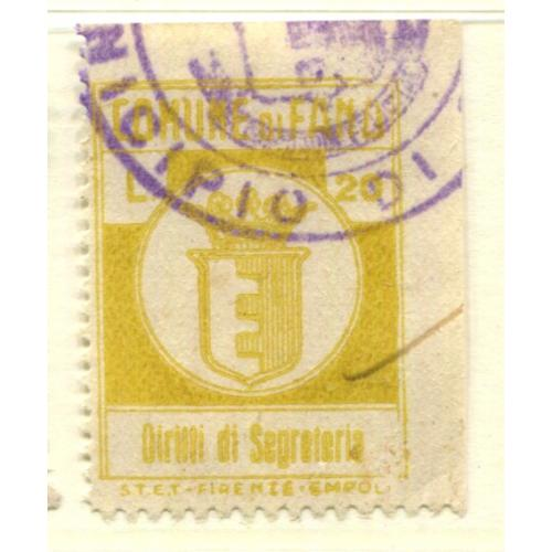 Italy Municipal Revenue Fermo, Thin      ,  i1466
