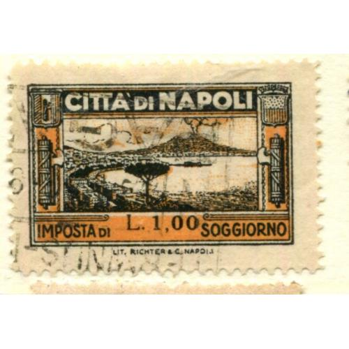 Italy Municipal Revenue  Naples, Perf 11 1/2      i1683