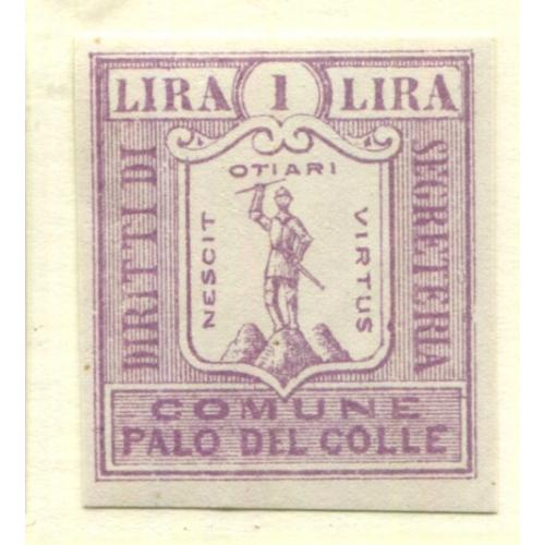 Italy Municipal Revenue  Palo del Colle, OG PROOF    i1839