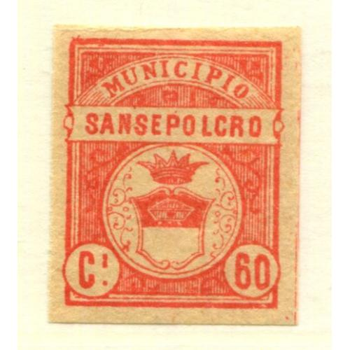Italy Municipal Revenue  Sansepolcro  60c, OG Proof    i1954
