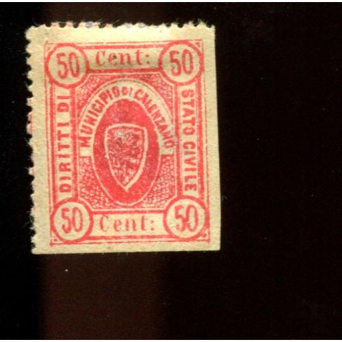 Italy Municipal Revenue Vittorio   50 c THIN  NG,  i2465