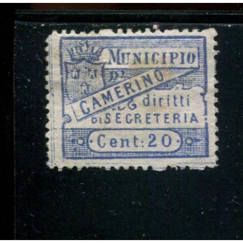 Italy Municipal Revenue   1st Issue 20 c   NG,  i2500