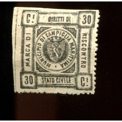 Italy Municipal Revenue   2nd Issue 30 c   NG,  i2518