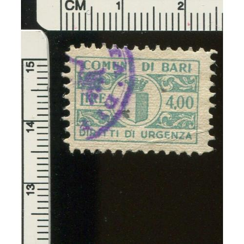 Italy Municipal Revenue Bari       Used,  i286