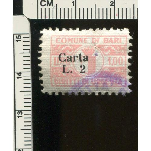 Italy Municipal Revenue Bari       Used,  i297