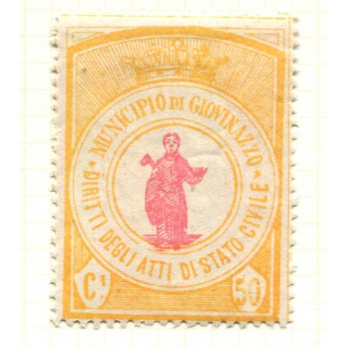 Italy Municipal Revenue Giovinazzo   50 c 1st Issue  OG,  ia280