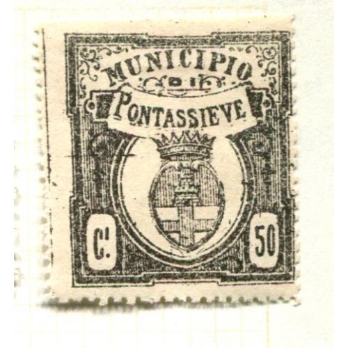 Italy Municipal Revenue Pontassieve   50 c 1st Issue  OG,  ia348