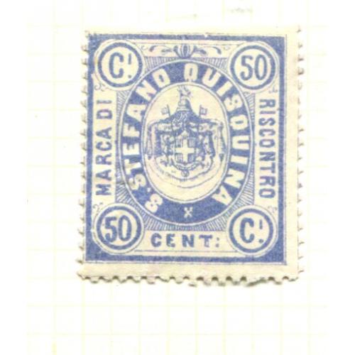 Italy Municipal Revenue S. Stefano Quisouina  1st Issue 50 c   OG,  ia438
