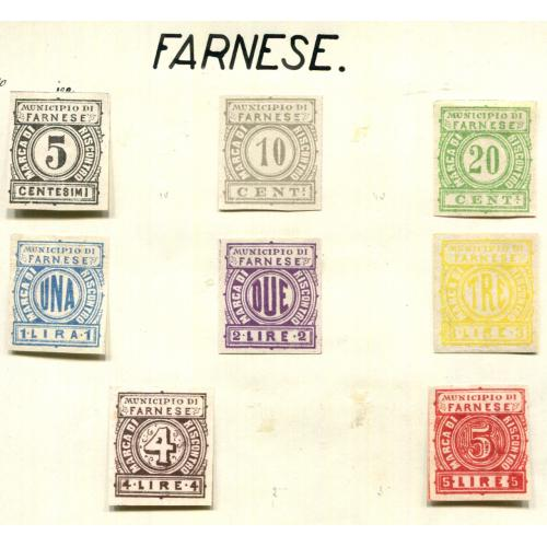 Italy Classic Municipal Revenue  Farnese 1st issue Proofs NG  it1314