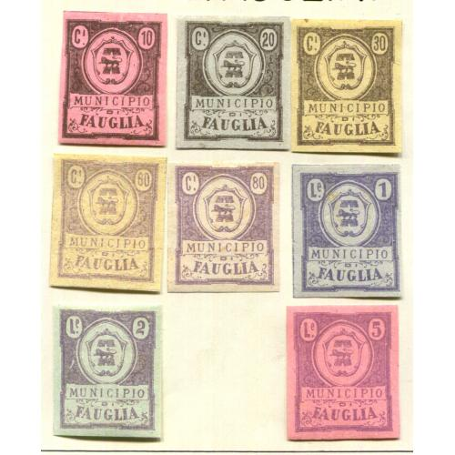 Italy Classic Municipal Revenue  Fauglia 1st issue Proofs Most OG  it1317