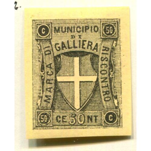 Italy Classic Municipal Revenue  Galliera 1st issue OG  it1342