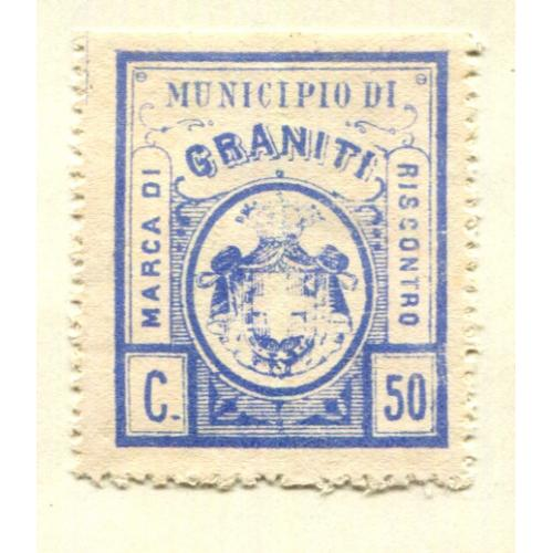 Italy Classic Municipal Revenue  Granati 1st issue OG  it1347
