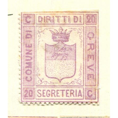 Italy Classic Municipal Revenue  Greve 1st issue OG, thin  it1348