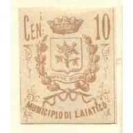 Italy Classic Municipal Revenue  Laiatico 1st issue PROOF OG  it1375